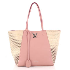 Louis Vuitton Lockme Cabas Perforated Leather Pink 3307102