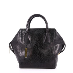 Stella McCartney Cavendish Boston Bag Faux Python Mini Black 3308301
