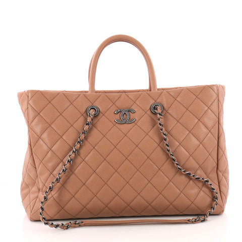 0ebc5236a73ade Buy Chanel Coco Handle Shopping Tote Quilted Caviar Large 3312903 – Rebag
