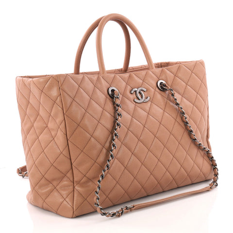 00cbce61b3e1 Buy Chanel Coco Handle Shopping Tote Quilted Caviar Large 3312903 ...