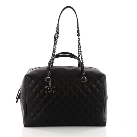 ddc44928951e Buy Chanel Feather Weight Bowling Bag Quilted Calfskin Large 3312904 – Rebag