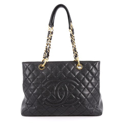 Chanel Grand Shopping Tote Quilted Caviar Black 3312905