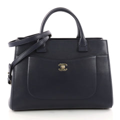 Chanel Neo Executive Tote Grained Calfskin Small Blue 3315502