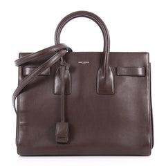 Saint Laurent Sac de Jour Handbag Leather Large Brown 3316001