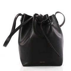 Mansur Gavriel Bucket Bag Leather Large Black 3317001