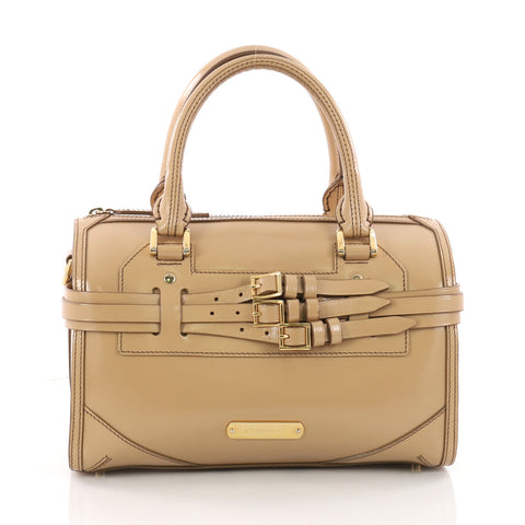 5f9146f16ae0 Buy Burberry Bridle Chester Convertible Bowler Bag Leather 3318215 – Rebag