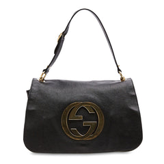 Blondie Flap Shoulder bag Leather with GG Hardware Medium