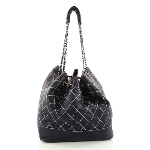 a0183e6d21c6 Buy Chanel Surpique Drawstring Bucket Bag Quilted Lambskin 3324902 ...