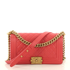 Chanel Boy Flap Bag Quilted Lambskin Old Medium Pink 3331101