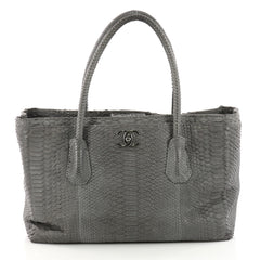 Chanel Shopping Tote Python Medium Gray 3331303