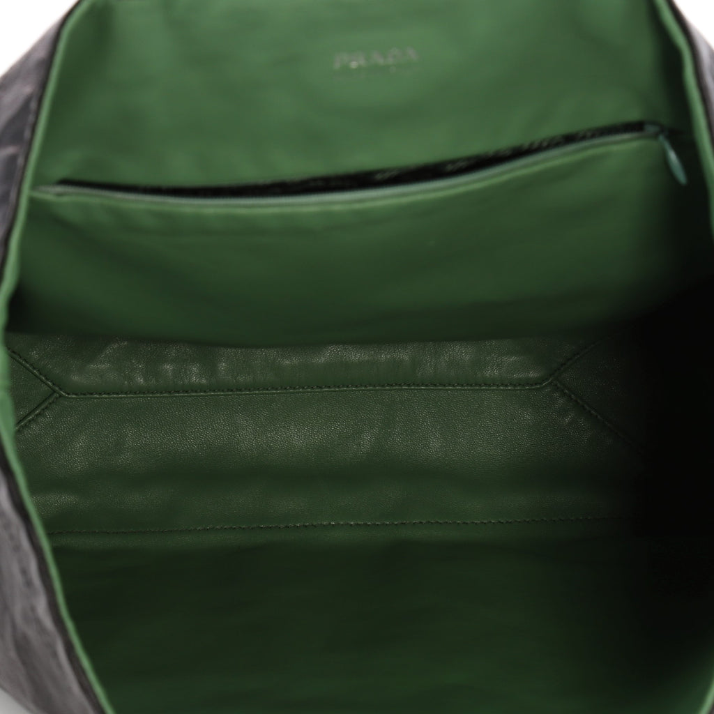 Buy Prada Reversible Tote Soft Calfskin Large Green 3331902 – Rebag 311af65c4b