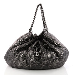 Chanel Rock In Moscow Cabas Quilted Printed Vinyl Large Gray 3332502