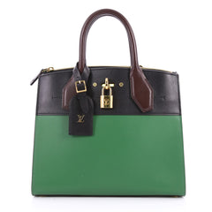 Louis Vuitton City Steamer Handbag Leather PM Green 3332601