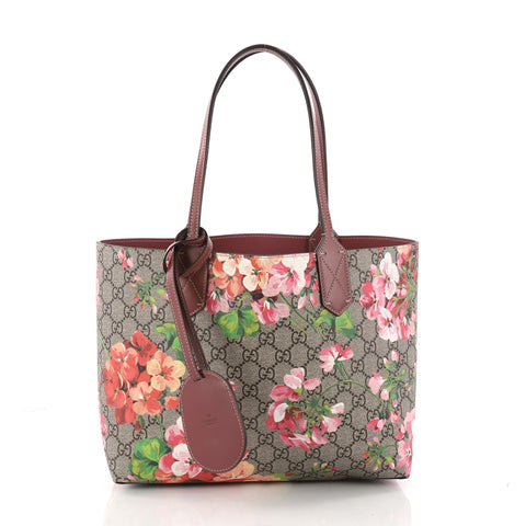 f2e1714aa8a Buy Gucci Reversible Tote Blooms GG Print Leather Small 3333603 – Rebag