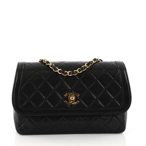 Buy Chanel Vintage CC Chain Flap Bag Quilted Lambskin Small 3335802 – Rebag 143ecec837af2