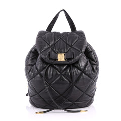 Salvatore Ferragamo Giuliette Backpack Quilted Leather 3335803