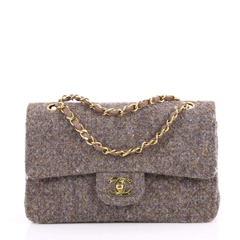 ec0a44c41250 Buy Chanel Vintage Classic Double Flap Bag Quilted Tweed 3338511 – Rebag