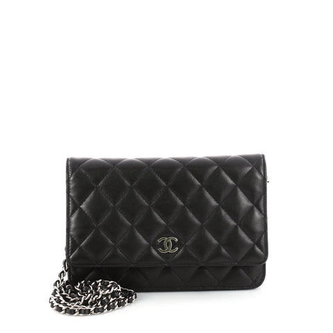 Buy Chanel Wallet on Chain Quilted Lambskin Black 3338601 – Rebag f5a3c142486e9