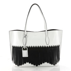 Tod's Fringe Joy Tote Leather Large White 3339801