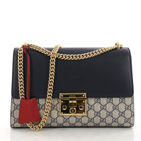 f728ca8d6734 Buy Gucci Padlock Shoulder Bag GG Coated Canvas and Leather 3341102 – Rebag