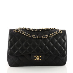 Chanel Classic Double Flap Bag Quilted Lambskin Jumbo 3341701