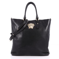 Versace Palazzo Medusa Gramercy Tote Leather North South Black 3342501