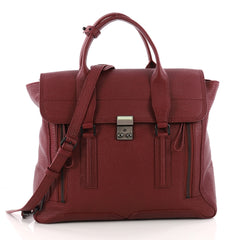 3.1 Phillip Lim Pashli Satchel Leather Large Red 3342602