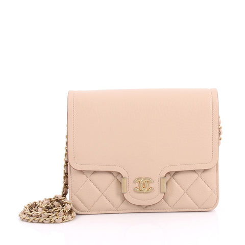 8250749b0a4c Buy Chanel Archi Chic Wallet on Chain Grained Calfskin Mini 3342901 – Rebag