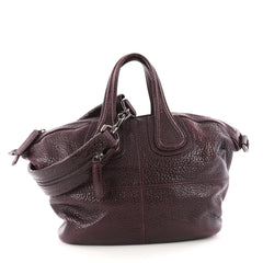 Givenchy Nightingale Satchel Leather Small Purple 3343104