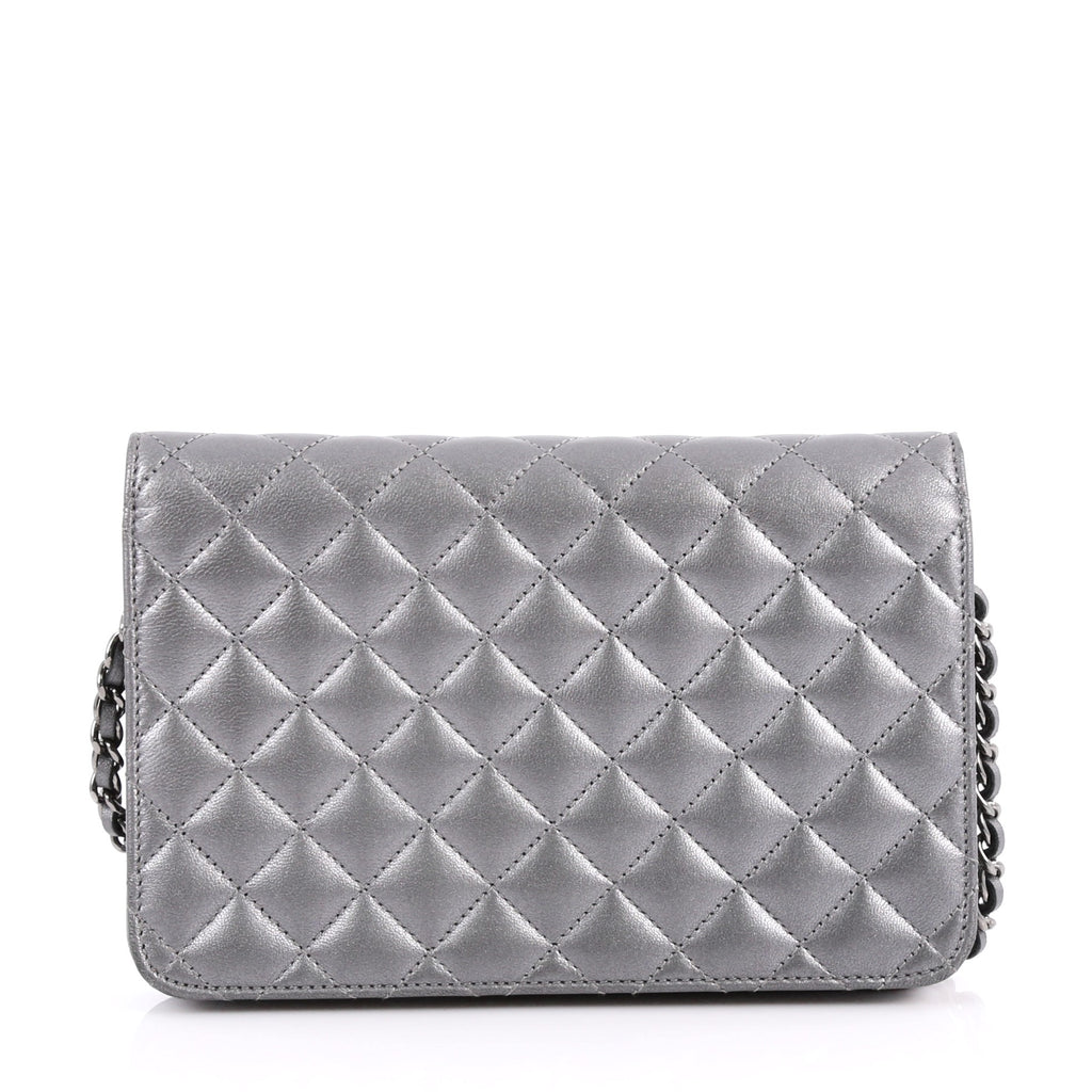 23e1ac0ffb8b Buy Chanel Diamond CC Wallet on Chain Quilted Lambskin Gray 3349303 ...