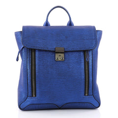 3.1 Phillip Lim Pashli Backpack Leather Blue 3352401