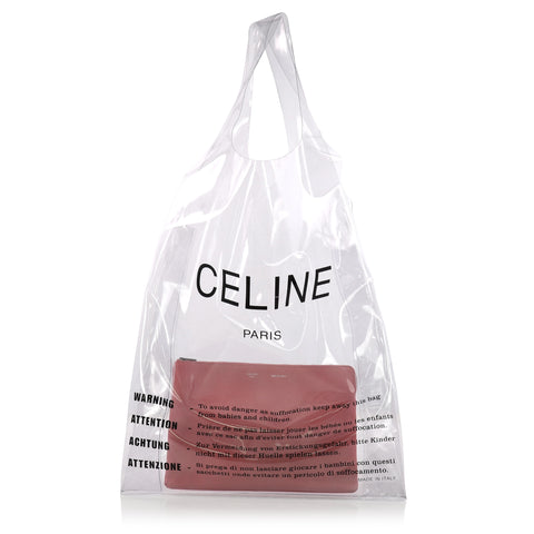 e96045e56574 Buy Celine Shopping Tote PVC Neutral 3354301 – Rebag