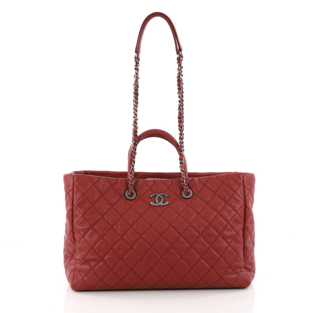 93184e57680c Buy Chanel Coco Handle Shopping Tote Quilted Caviar Large 3354503 ...