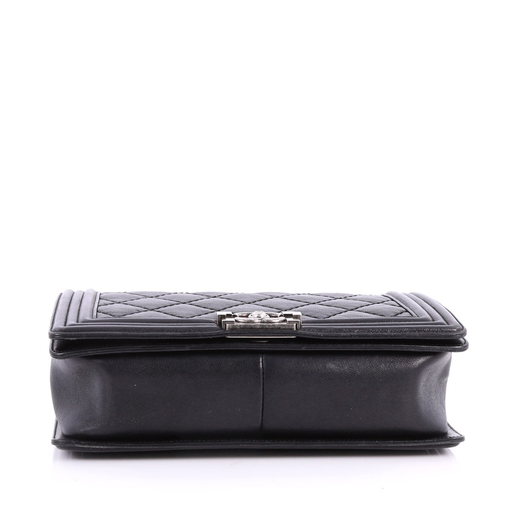 3595e226f2370c Buy Chanel Double Stitch Boy Flap Bag Quilted Calfskin New 3359601 ...