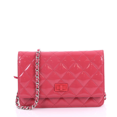 e5e5731860d1 Chanel Reissue Wallet on Chain Quilted Patent Pink 3362301 – Rebag