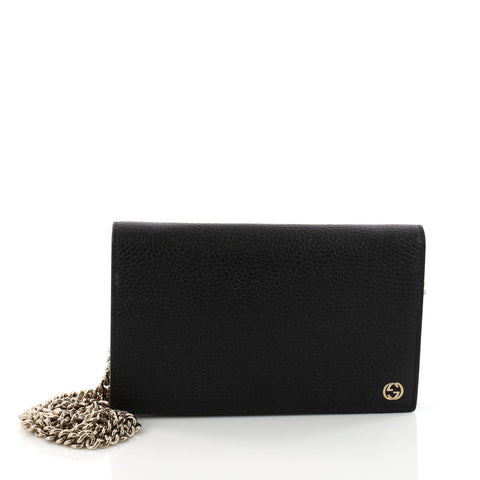 fd095ee637293a Buy Gucci Betty Chain Wallet Leather Black 3363601 – Rebag
