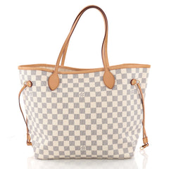 Louis Vuitton Neverfull NM Tote Damier MM White 3364902