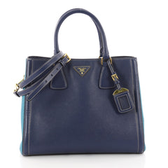 Prada Bicolor Lux Convertible Open Tote Saffiano Leather 3366801