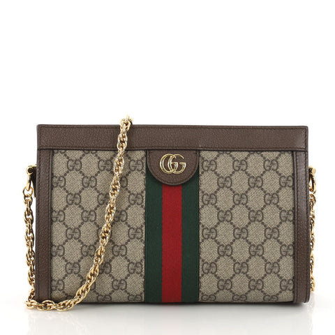 1b6eda49267 Gucci Ophidia Chain Shoulder Bag GG Coated Canvas Small 3368903 – Rebag