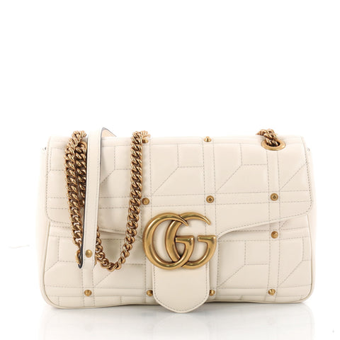 8f16f65b0d96 Buy Gucci GG Marmont Flap Bag Studded Matelasse Leather 3372902 – Rebag