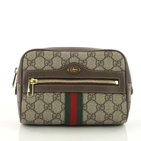 0c9190566 Buy Gucci Ophidia Belt Bag GG Coated Canvas Small Brown 3375502 – Rebag