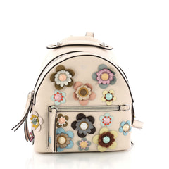 Fendi By The Way Flowerland Backpack Embellished Leather 3377902