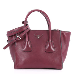 Twin Pocket Tote Glace Calf Small