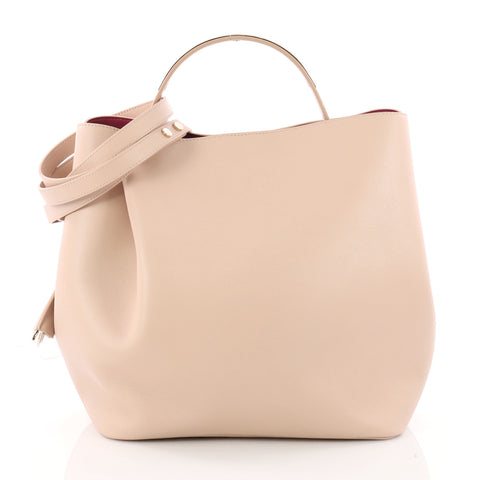 9a98d19d854 Christian Dior Diorific Bucket Bag Leather Small Pink 3379701 – Rebag