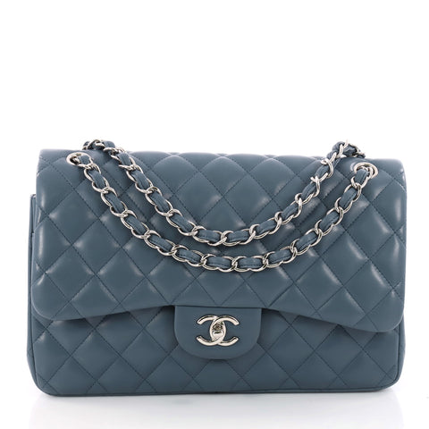 931d41e4fcca Buy Chanel Classic Double Flap Bag Quilted Lambskin Jumbo 3380001 – Rebag