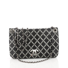 Chanel Crystal CC Chain Flap Bag Hand Painted Leather 3380401