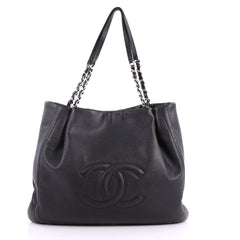 Chanel Timeless Chain Tote Caviar Large Black 3381001
