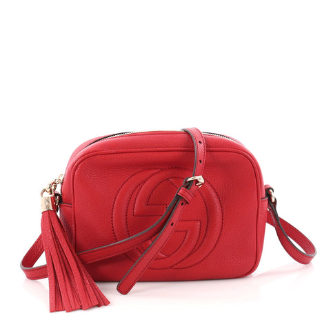 6697f989785516 Buy Gucci Soho Disco Crossbody Bag Leather Small Red 3384603 – Rebag