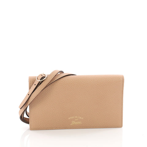 b88a94899c4518 Buy Gucci Swing Wallet on Strap Leather Neutral 3388702 – Rebag