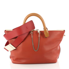 Chloe Bicolor Baylee Satchel Leather Medium Red 3389501